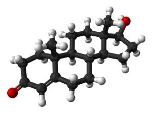 chemická vazba testosteronu